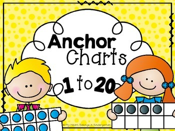 Anchor Charts for Numbers to 20 (Number Recognition; Number Sense}