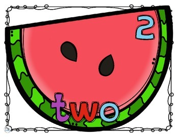 Number Anchor Charts Watermelon Posters 0 - 20