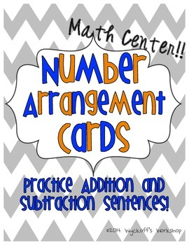 Number Arrangements Math Center