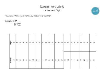 Number Art Work