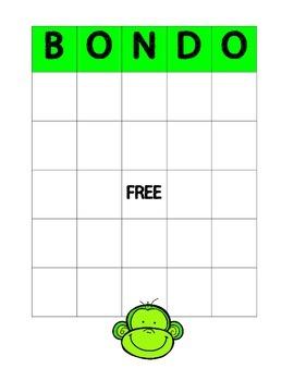 Number B-O-N-D-O Game  1.OA.B.4  1.OA.C.6  2.OA.B.2