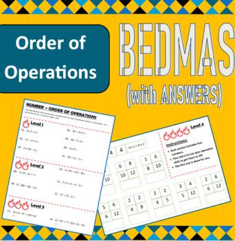 Number - BEDMAS BIDMAS - Order of operations (positive integers only)