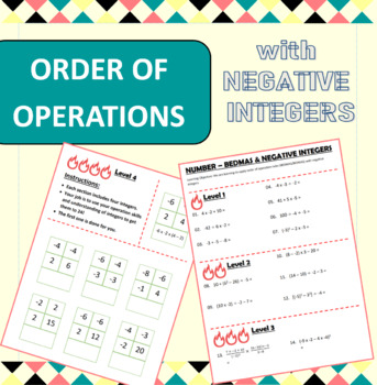 Number - BEDMAS BIDMAS - Order of operations (including negative ...
