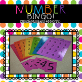 Number BINGO!  (Simple Numbers #1-5 Only)