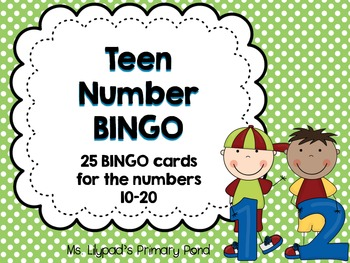 Teen Numbers Bingo {Numbers... by Learning At The Primary Pond ...