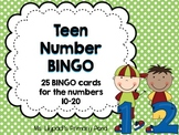 Teen Numbers Bingo {Numbers 10-20}