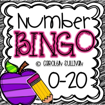 Number BINGO for Numbers 0-20