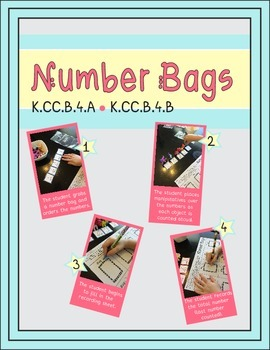 Number Bags Math Center (K.CC.B.4.A & K.CC.B.4.B)