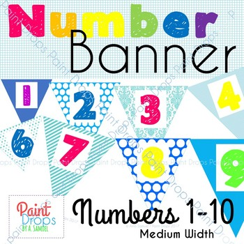 Number Banner 1-10 Medium {Number Posters for Classroom Decor}