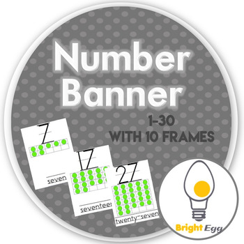 Number Banner 1-30  with 10 Frames