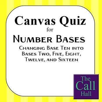 Number Bases Canvas Quiz