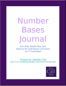 Day 10 - Number Bases End of Unit Journal