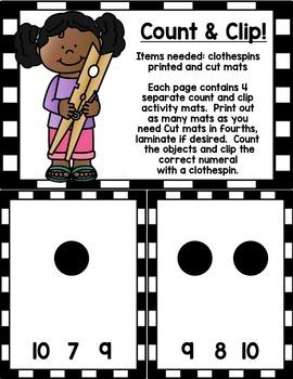 Number Basics Kit 1-10 for Preschool, PreK, Kindergarten & Homeschool