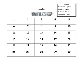 Number Battleship