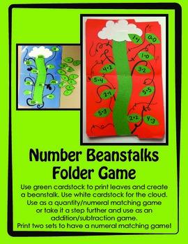 Number Beanstalk Folder Game