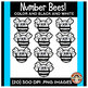 Bees Clipart | Number Bees | Counting Hands