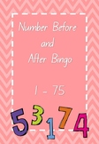 Number Before & After Bingo 1-75