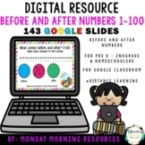 Number Before and After 1-100 - Google Slides - Distance Learning