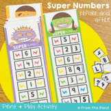 Number Before and After Activity - Super Numbers