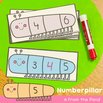 Number Before and After Math Center - Numberpillar