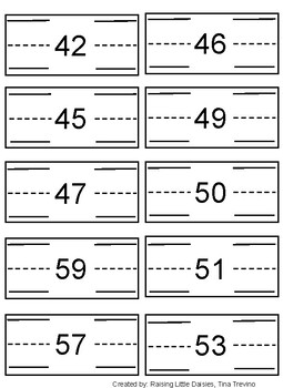 Number Before and After write and wipe cards/sheets, Number order, Numbers