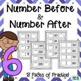 Number Before and Number After Worksheets {NO PREP} Packet