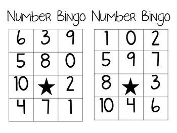 Number Bingo (0-10)