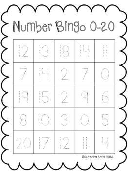 Number Bingo 0-20