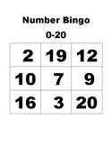 Number Bingo - 0-20 - Mini Eraser Game