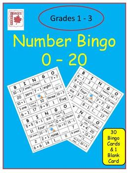 Number Bingo 0 - 20 (With a Twist!)
