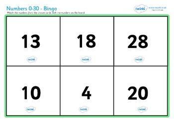 Number Bingo (0-30)