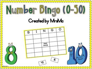Number Bingo (0-50 Practice)
