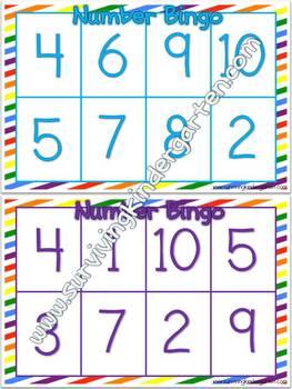 Number Bingo-1-10