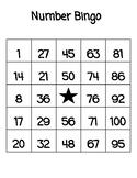 Number Bingo 1-100