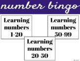 Number Bingo 1-20,  20-50 & 50-99 (BUNDLE)