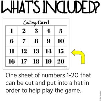 Number Bingo 1-20