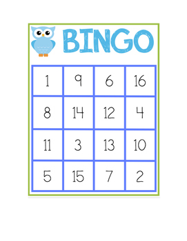 Smart image intended for number bingo printable