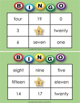 Number Bingo - 1 to 20