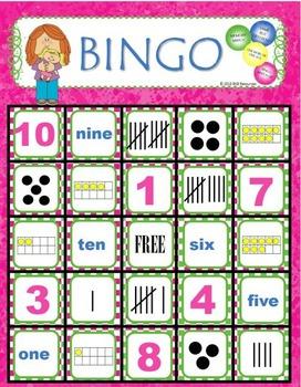 Number Bingo ● Number Sense Activities ● Number Games ● Numbers 1-10