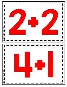 Number Bingo- Addition and Subtraction (Kindergarten, First, Second Grade)