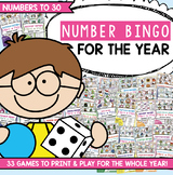 Number Bingo Games for the Whole Year