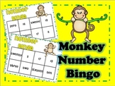 Monkey Number Bingo