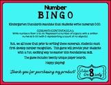 Number Bingo - Numbers 0-20