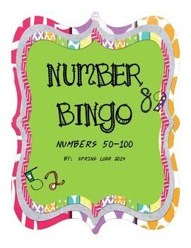 Number Bingo - Numbers 50-100