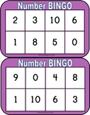 Number Bingo - Set 2 - Dot Plate Sets
