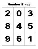 Number Bingo Sheets- 0-9 - Mini Eraser Game