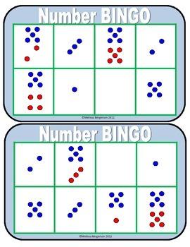 Number Bingo - Subitizing
