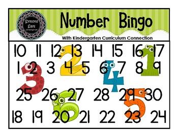 Number Bingo (pdf)
