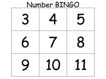Number Bingo, #s1-20
