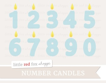 Number Birthday Candle Clipart; Party
